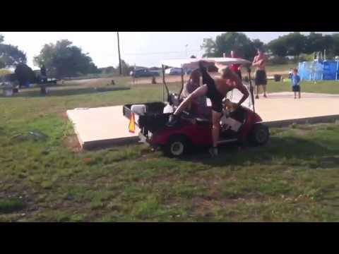 High Jump Over A Golf Cart