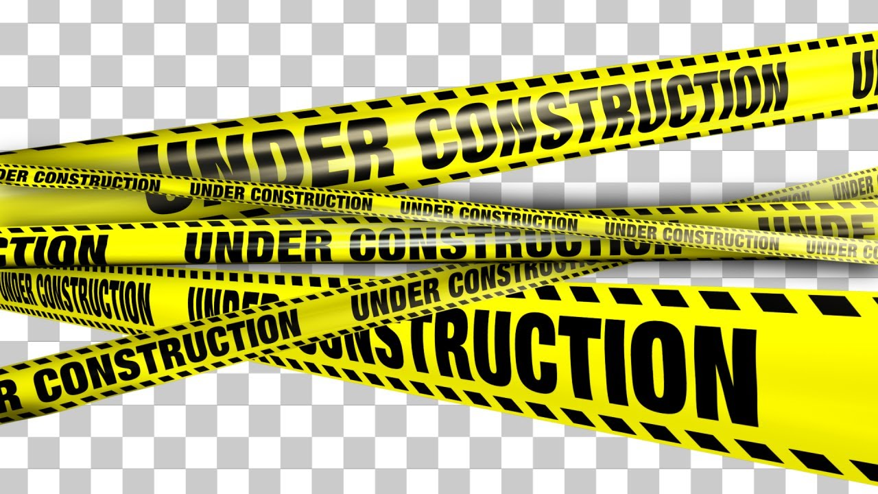 Under Construction Tape Background Yellow Under Co...