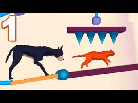 Rescue Cut Rope Puzzle RESCUE CAT MODE Gameplay Walkthrough 1-40 Levels (Android)