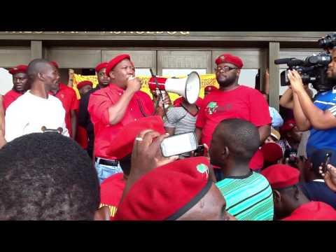 Malema at unisa Part1