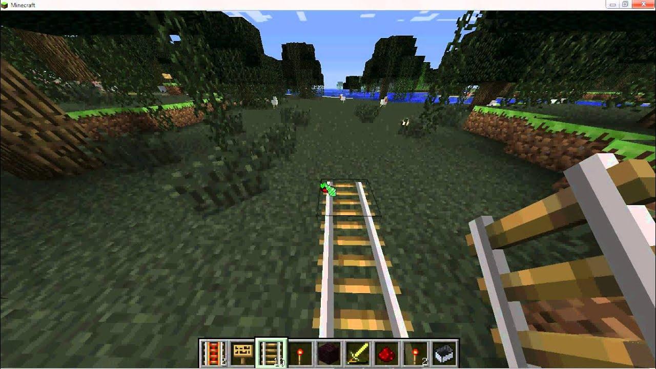 Comment creer un train dans minecraft youtube - Comment faire un chalet dans minecraft ...