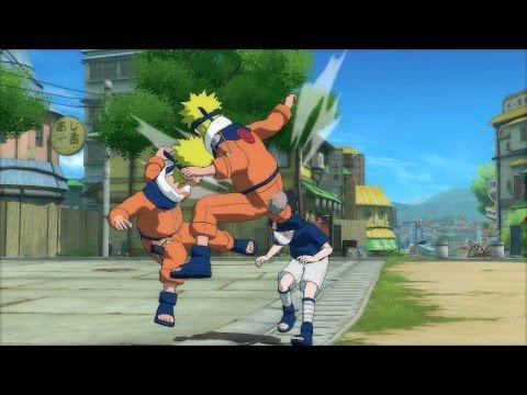 Game Naruto quyết đấu - Naruto đánh nhau với Sasuke và Gara