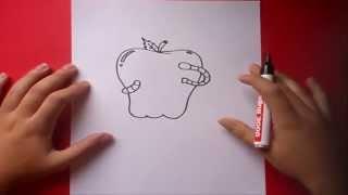 Como Dibujar Una Manzana Paso A Paso How To Draw An
