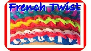 "Loom Bands Bracelet ""French Twist"" (Fun Loom, Crazy Loom"
