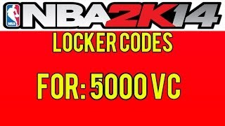 NBA 2K14 Locker Codes Free 5K VC! PS3/PS4/XBOX ONE/XBOX
