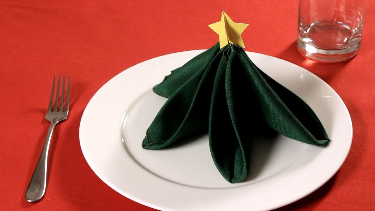 Youtube Christmas Tree Napkin Folding