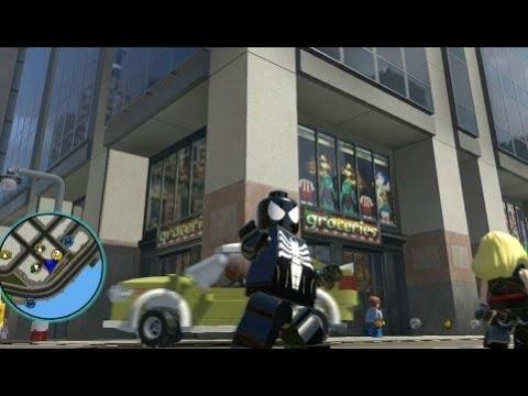 lego marvel super heroes spiderman symbiote free roam