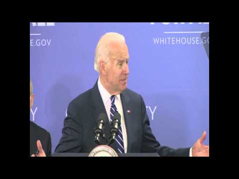 Vice President Joe Biden speaks at Monroe Community College