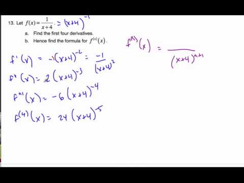 IB Math SL - Finding the nth derivative again