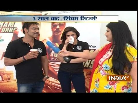 Exclusive: India Tv speakes with Ajay Devgan,Kareena Kapoor on Singham Trailer launch