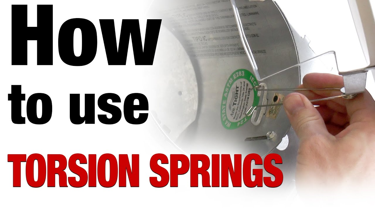 Recessed Lighting Torsion Spring Retention System Overview