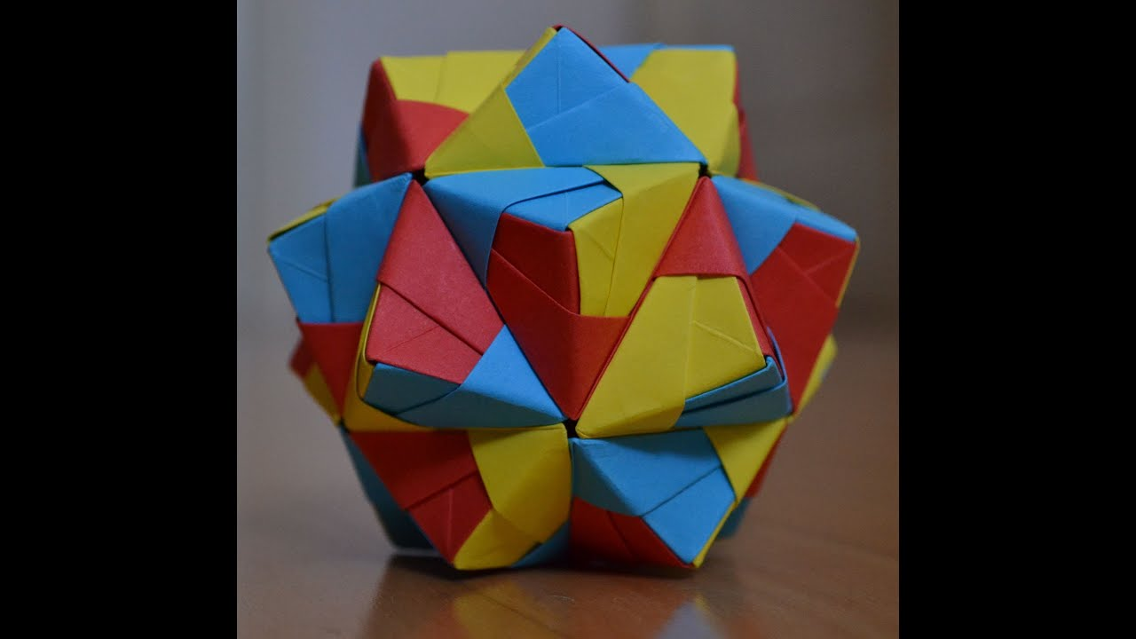 kusudama small triambic icosahedron sonobe variation unit