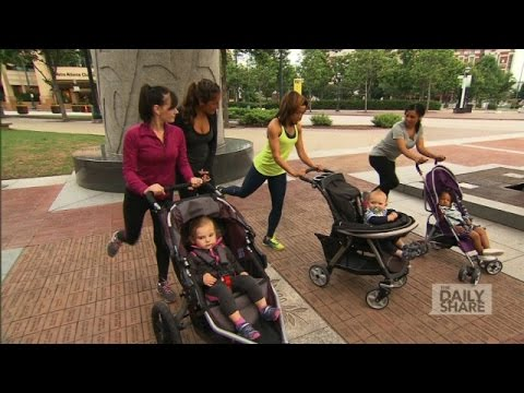 Watch these moms get ripped with baby on board!