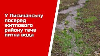 У Лисичанську посеред житлового району тече питна вода