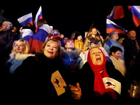 Celebrations in Simferopol Following Crimea Vote
