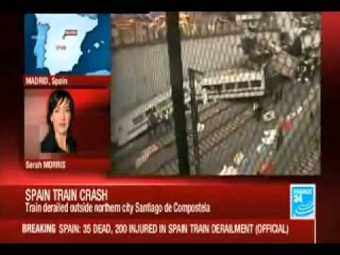 SHOCKING: Train Derailment in Spain Kills at least 35, Injures 200 - Santiago