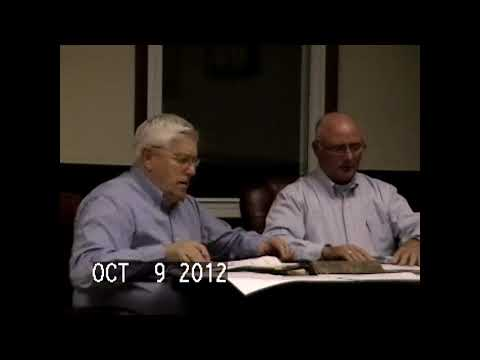 Chazy Town Board Meeting 10-9-12