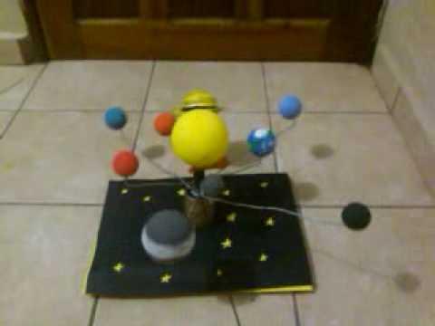 maqueta del sistema solar movil