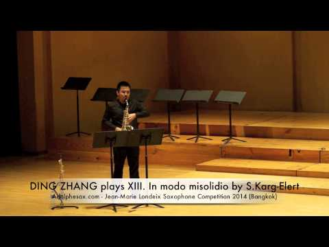 DING ZHANG plays XIII In modo misolidio by S Karg Elert