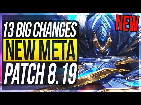 NEW TEASER & WORLDS PATCH!!! 13 BIG CHANGES & NEW OP CHAMPS Patch 8.19 - League of Legends
