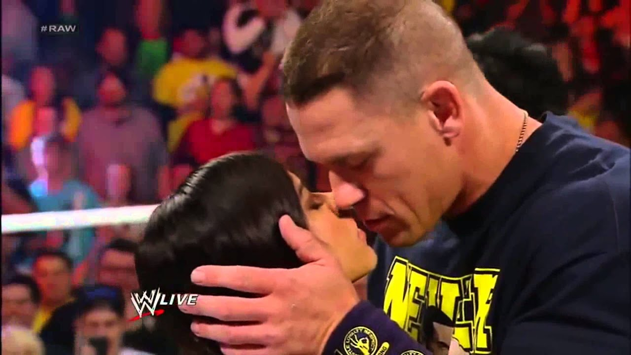 Wwe john cena and kelly kelly kissing
