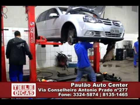 Veja os serviços que você encontra no Paulão Auto Center