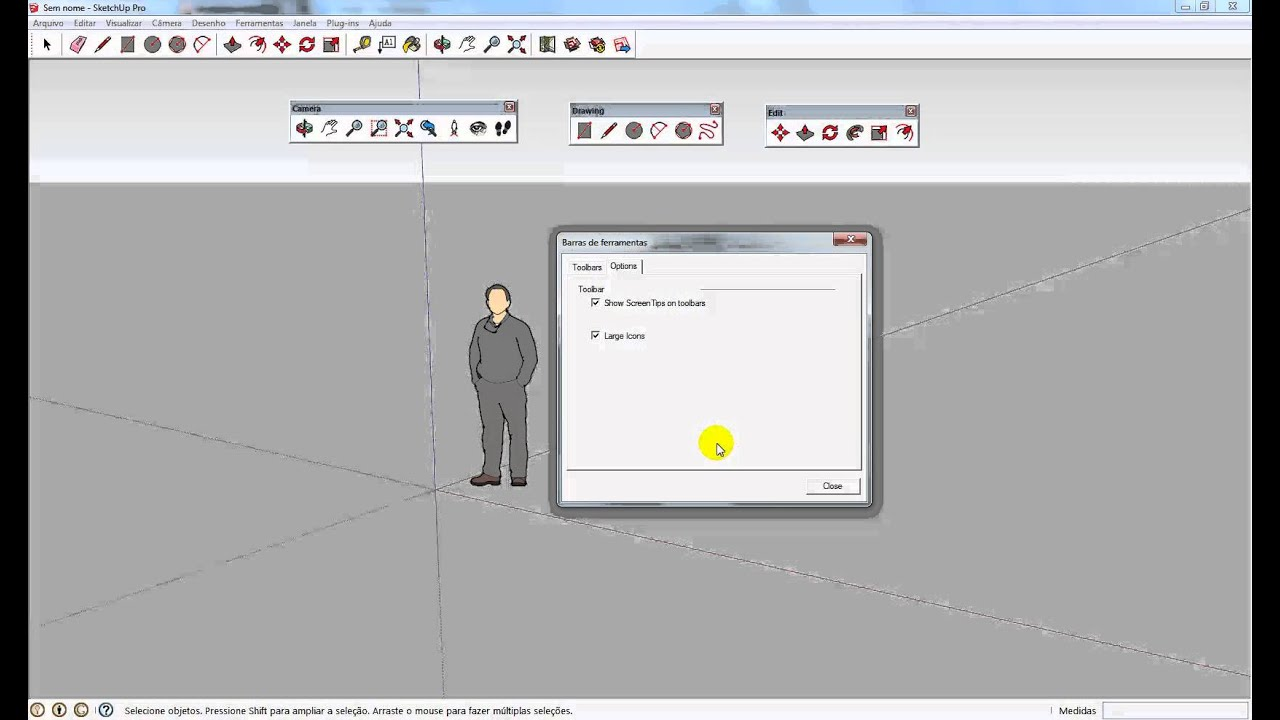 Curso sketchup 2013 aula 01 youtube for Sketchup 2013