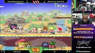 S@X Weekly - EE (Meta Knight) Vs. Pink Fresh (Lucas) SSBB - Super Smash Bros. Brawl view on youtube.com tube online.