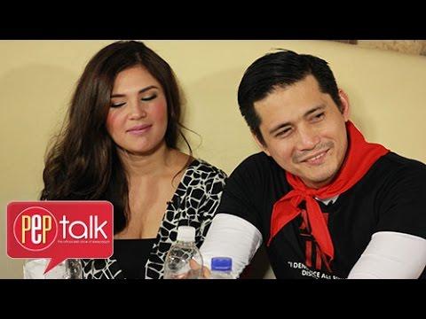 PEPtalk. Robin Padilla and Vina Morales and their