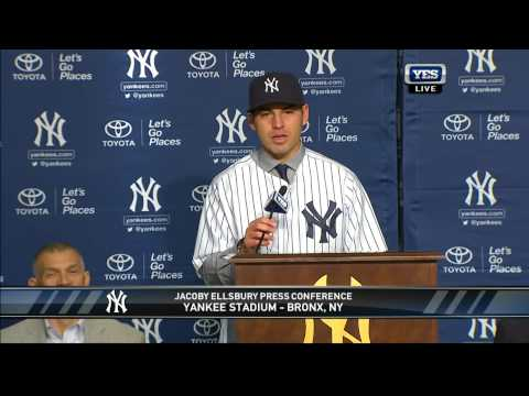 New York Yankees Press Conference - Jacoby Ellsbury (2013)