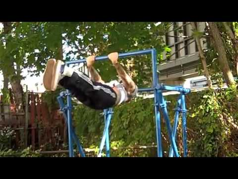 Building a backyard pull up bar youtube