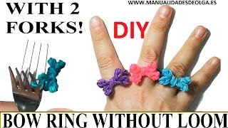 How To Make A Bow Ring (EASY) With 2 Forks. Without
