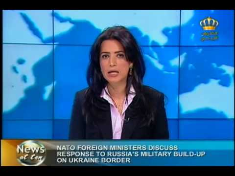 English News at ten in Jordan Television 01-04-2014