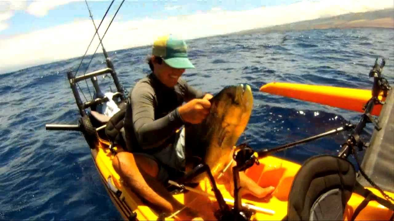 Extreme kayak fishing maui hawaii ch 3 waiehu water for Kayak fishing hawaii