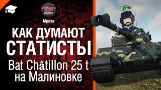 Как думают статисты: Bat  Châtillon 25 t на Малиновке - от Mpexa [World of Tanks]