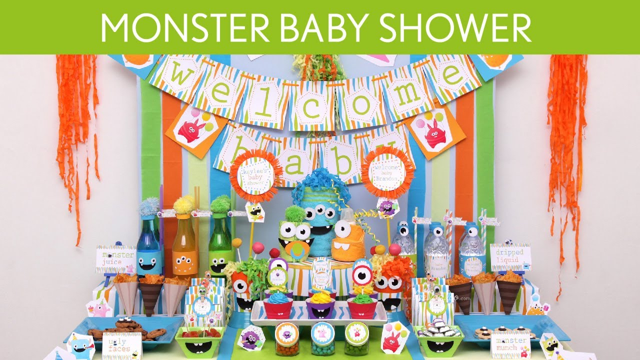 monster baby shower party ideas monster s19 youtube