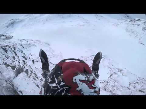 Snowmobile BASE jump Antti Pendikainen