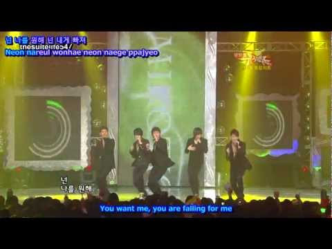 DBSK - Mirotic [Music Bank] (08.11.07) {Hangul, Romanization, Eng Sub}