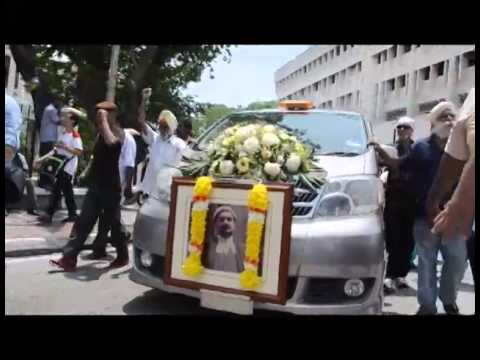 Suasana Rombongan Jenazah Mendiang Sdr Karpal Singh
