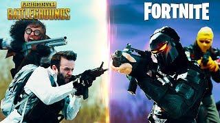 Ako by vyzeral boj PUBG vs Fortnite tímov?
