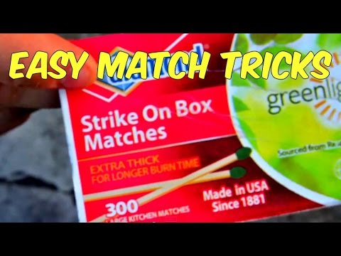 How to Strike Match on a Match (easy match tricks)