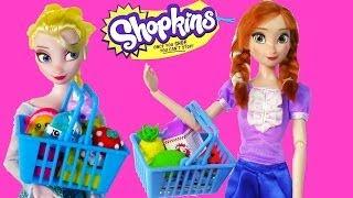 Disney Frozen Eating Shopkins Queen Elsa Princess Anna