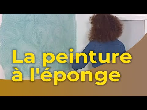 la peinture l 39 ponge youtube. Black Bedroom Furniture Sets. Home Design Ideas