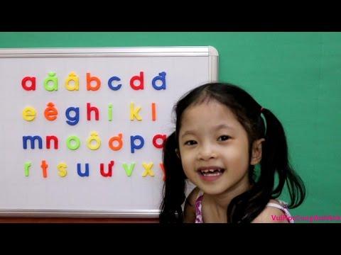 Vui học cùng Anh Anh - Tập Đọc Bảng Chữ Cái Tiếng Việt abc, chữ viết thường