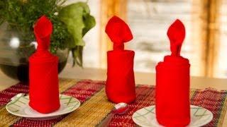 Decoración de servilletas: Forma de vela
