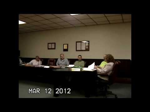 Chazy Town Board Meeting 3-12-12