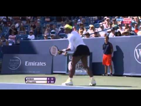Angelique Kerber vs Serena Williams 6-4 Quarter Finals Masters Cincinnati  2012
