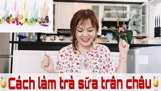 Khéo Tay Hay Làm: TRÀ SỮA LẮC CỰC NGON TẠI NHÀ - Nhung Phan Channel