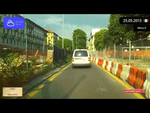 Driving through Milano (Italy) 25.05.2015 Timelapse x4
