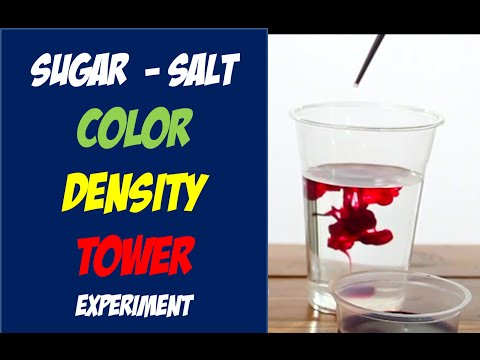 Salt + Sugar Density Color Tower experiment